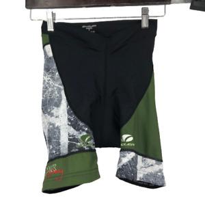 Voler Womens Shorts Activewear Biker Cycling Colorblock Black Medium M