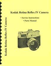 Kodak Retina Reflex Iv Service & Repair Manual Reprint
