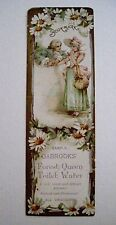 """Vintage Victorian Advertising Bookmark for """"Dabrooks Toilet Water"""" *"""