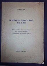LA DOMINAZIONE INGLESE A MALTA FINO AL 1860 ROSSI DE LUIGI 1935