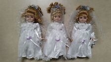 Porcelain Collectible Wedding Dress Baby Dolls Lot of 3 Fast Free USA Shipping