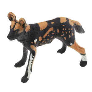 Wild Animal Model African Wild Dog Model Animal Action Figure Toys