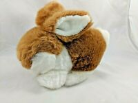 "Dandee International Brown White Rabbit Plush Bunny 8"" Stuffed Animal"