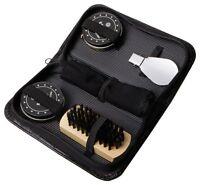 Shoe Polish Kit for LEATHER SHOES SHOE SHINING SHINER POLISHER BRUSHES Meridian