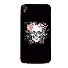 Coque souple pour Alcatel Idol 3 5 5 avec impression Motifs skull fleuri