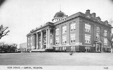 Lawton Oklahoma~Senior High School~1950s B&W Postcard