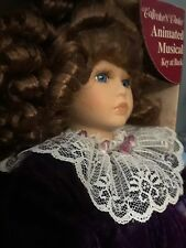 Collectors Choice Series By Dandee Windup Animated Musical Porcelain Doll