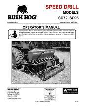Bush Hog Sd72 Sd96 Seed Drill Instruction Operator Maintenance Manual Cd