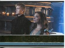 Game Of Thrones Season 3 Gold Parallel Base Card  10 And Now His Watch Is Ended