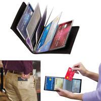 Men's Leather Bifold 24 ID Credit Card Holder Purse Wallet Slim Billfold Handbag