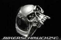 Totenkopf Skull Ring Vampirschädel echt 925 Silber Bikerschmuck Herren Geschenk