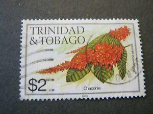TRINIDAD & TOBAGO 1983 FLOWERS $2 CHACONIA SG 648A GOOD USED