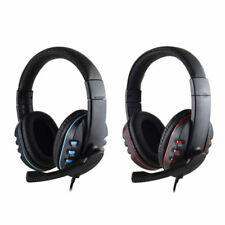 3.5mm Gaming Headset Headphones Stereo Sound Mic for PC Mac Laptop Ps4 Xbox One