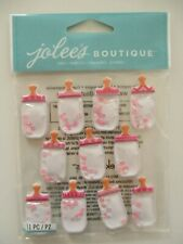 JOLEE'S BOUTIQUE 3D STICKERS - BABY GIRL BOTTLE DOME REPEATS