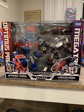 Japanese Transformers Animated Optimus Prime vs. Megatron Figure Set Takara Tomy