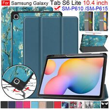 For Samsung Galaxy Tab S6 Lite 10.4 SM-P610 P615 Tablet Folio Leather Case Cover
