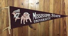 Vintage Mississippi State Bulldogs MSU University Pennant