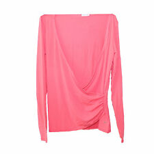 Ladies Top Size 12 Speedo Spa Wrap Gym Sports Salmon Shirt Work Out
