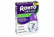 2 Pack Rohto Dry Aid Dry Eye Relief Lubricant Eye Drops Up to 12 Hours .34 Oz Ea