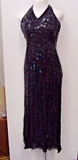 Black Sequin Dress Formal Prom Costume**Size 10**FREE SHIPPING
