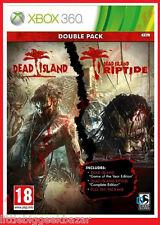 DEAD ISLAND Double Pack Riptide X-box 360 xbox Microsoft Jeu Video # NEUF#