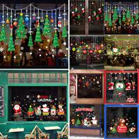 Weihnachten Aufkleber Weihnachtsmann Weihnachtsbaum Schaufenster Fenster Deko