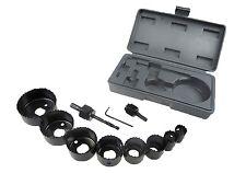 11pc Serrucho De Corte Set Kit 19-64mm Madera aleaciones metálicas