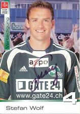 Stefan Wolf  FC St.Gallen  Fußball Autogrammkarte signiert 391716