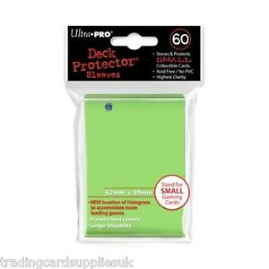 60 Ultra Pro Lime Green Deck Protectors Trading Card Gaming Sleeves.
