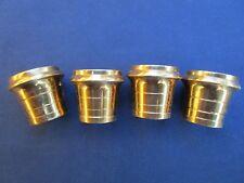4 sabots ronds laiton pieds table meuble Dia. intérieur bases 1,75 cm copie