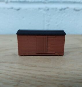 HOn30 14ft WOOD STYLE BOXCAR kit. No trucks/couplers. OXIDE RED. 3D Print. NEW!