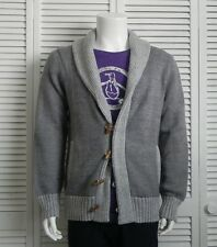 NEW Mens SIZE XXL 2XL ALPACA Gray Grey Shawl Collar Cardigan Sweater PERU