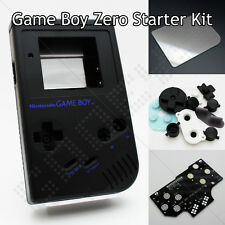 Black GameBoy Zero Kit DMG-01 Shell Controller PCB Board Glass Screen & Buttons