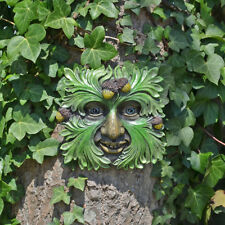 Tree Ent Face Leaf Plaque Wall Garden Ornament Greenman Myth Forest King 80607