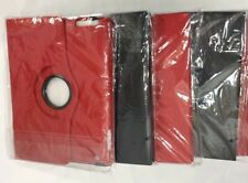 4 IPAD 2nd 3rd 4th Generation Case Covers Swivel Stand 2 Black, 2 Red New
