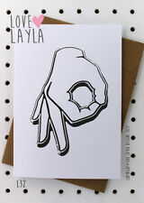 Greetings Card / Birthday / The Game / Cheeky / Love Layla / Funny /Humour / L32