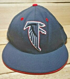 Atlanta Falcons Black Hat NFL Vintage Collection Mitchell & Ness 7-3/4 Fitted
