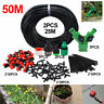 25M/50M Drip Micro Irrigation Watering Automatic Garden Plant Greenhouse System