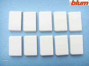 Pack of 10,White cover caps, to suit Blum ZSF.170-02.01 Drawer Brackets,