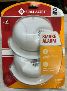✅ First Alert  Battery-Powered  Ionization  Smoke Detector 2 Pack