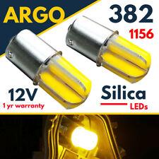 1156 Ba15s Amber Indicator Led Cob 382 P21w 5w Car Hazards Turn Light Bulbs 12v