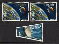 MALAYSIA - 1970 SATELLITE EARTH STATION SET SG 61-63 - GOOD USED - HIGH CAT