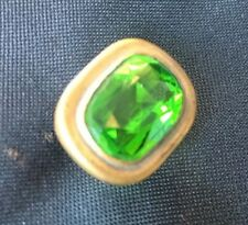Antique Hat Pin Beautiful Emerald Green Stone