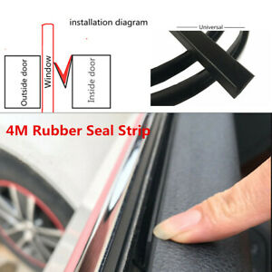 Car Side Window Trim Moulding Rubber Weatherstrip Abnormal Noise Seal Strip 4M