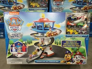 Paw Patrol True Metal Adventure Bay Rescue Way Set Ages 3+ with Dual Track Play