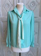 Vintage Blouse by Planet Tie neck - 1970s/80s Size 8-10