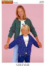 KOOL KIDZ CHUNKY Sirdar Knitting Pattern #4270 Cardigans for Kids 1yr-12yrs