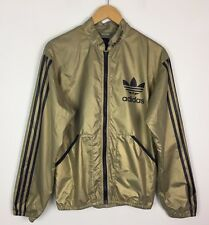 RARE VTG GOLD ADIDAS LIAM GALLAGHER RETRO DEADSTOCK SPORTS WINDBREAKER JACKET XS