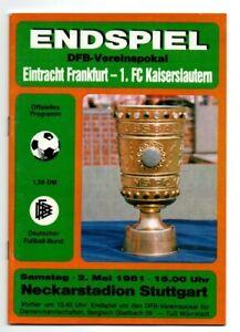 Orig.PRG  DFB Pokal  1980/81  FINALE   EINTRACHT FRANKFURT - 1.FC KAISERSLAUTERN