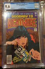 Doorway To Nightmare 1 CGC 9.6 NM+ 1st Madame Xandu white pages DC Comics 1978
